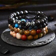 Natural Stone Lava Healing Chakra Bracelet Vintage Beaded Bangle Women Jewellery