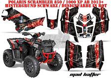 AMR Racing DECORO GRAPHIC KIT ATV POLARIS interferenzaNverso/Trailblazer Mad Hatter B