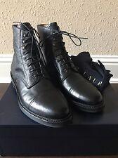 NWB Ralph Lauren Purple Label Grain Macomb Black Boots 10.5 Sassetti Italy $895