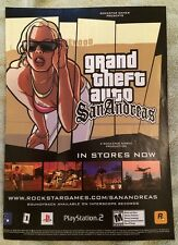 Grand Theft Auto San Andreas Poster Ad Print Playstation 2 Rockstar