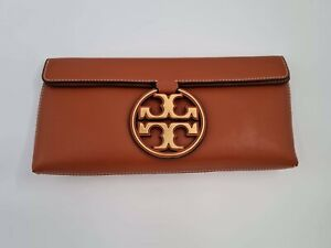 Tory Burch Miller Metal Flap Clutch Bag, Aged Camello, New With Tags, Authentic