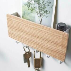 Letter Box Mail Organizer US Holder Rack Wooden Door Hanger Wall Mount Key Hooks