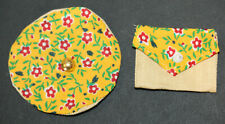 """Vintage Doll Purse & Hat-2 1/4"""" Wide Hat With 1"""" Head Opening-Purse 1 1/2"""" Wide"""