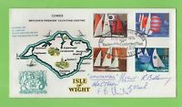 G.B. 1975 Sailing set on Review of Cumberland Fleet I.O.W. commemorative cover
