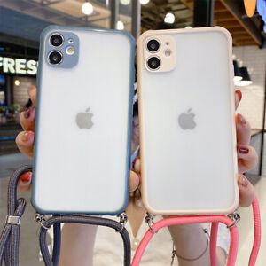 Für iPhone 11 Pro Max XS XR 8 7 X SE 2020 Handyhülle Kette Band Kordel Handyband