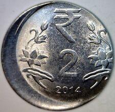 2014 ERROR 25% Off Center India 2 Cent Piece Two Rupee O/C US QUARTER SZ Coin NR