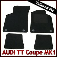 Audi TT Coupe Mk1 1998-2006 Tailored Fitted Carpet Car Floor Mats BLACK