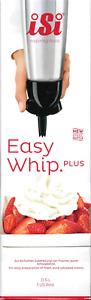 iSi Easy Whip PLUS 0,5 l Edelstahl Sahnezubereiter Sahnespender Gerät Schwarz