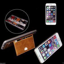 Reino Unido Pierre Cardin Genuino Cuero Funda con tarjetero para iPhone 6/6s Marrón Tostado