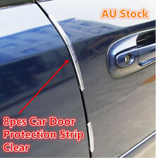 8 Pcs Clear Car Side Door Edge Defender Protector Trim Guard Protection Strip