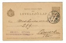 Hungary 1909 5f Postal Stationary Used - 101517