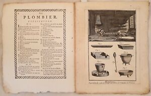 DE FELICE ENCYCLOPEDIE PLOMBERIE PIOMBAIO STAGNINO 7 INC LEAD PIOMBO STAGNO 1779