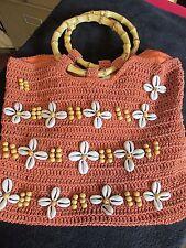 Beautiful carlo d santi Sea Shell Beach tote Summer Womans  hand Bag Purse