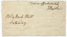 Scottish Poet and Playwright Joanna Baillie Autograph, Closing of a Letter