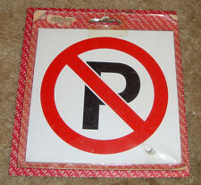 NO PARKING  SYMBOL adhesive sign 130mm x 130mm FREE POST