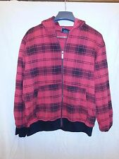 South Pole Women's Red and Black Plaid Coat Size L 16-18 EUC