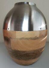"Threshold Target Wood & Metal Dry Arrangement Vase 10"" Not Water Safe"