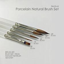 NK-Brushes BesQual 5 Pieces Set For Dental Lab Porcelain Ceramist (1,3,5,6,4F)