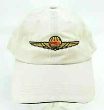 Cap America Hat Shell Gas Station Oil Advertising Logo Strapback Beige