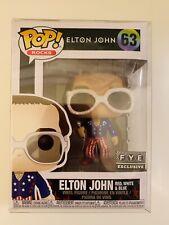 Funko Pop! Rocks Elton John Red, White, Blue Glitter Fye Exclusive w/ Protector