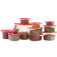 58 Pcs. Plastic Food Container Set 29 Storage Container With Air Tight Lids Red