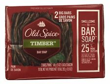 1X 2 Pack Old Spice Fresher Collection Timber 5 oz Big Bar Soap 2 Bars Total