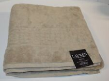 "Ralph Lauren Pierce Natural Taupe Bath Towel 30"" X 56"" Soft Cotton"