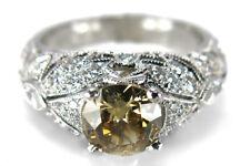 Ring Diamant ca. 0,82 ct +  Diamanten ca. 0,50 ct 750 Weißgold [BRORS 11651]