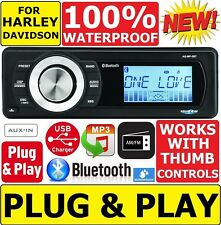FOR 1998-2013 HARLEY TOURING WATERPROOF BLUETOOTH MP3 AUX RADIO STEREO