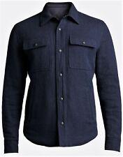 $1,995 Ralph Lauren Purple Label Navy Wool Shirt Jacket M Medium Italy