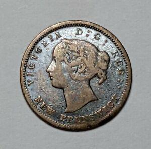 1864 - CANADA/NEW BRUNSWICK (SW-6) SILVER SET 5c KM 7 - 177460S