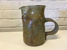 Signed Hill Studio Pottery Pitcher Multi Color Glaze