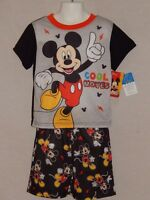 NEW Mickey Mouse Clubhouse 2 pc Pajamas Sleep Outfit Disney Shirt Top 12m 18m 4T