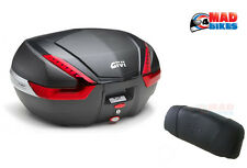 GIVI V47NN MONOKEY MOTORCYCLE LUGGAGE TOP BOX 47L + FREE E134S BACKREST