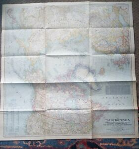 National Geograpic 1949 Top of the World Map