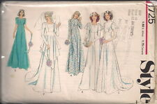 Vintage Bridal Gown Sewing Patterns ST1725 Size 10