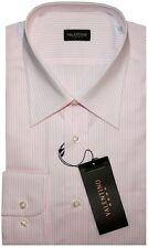 $295 New Valentino Roma white w pink stripes dress shirt 17
