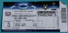 OLD TICKET CL Anderlecht Brussel Belgium AC Milan Italy