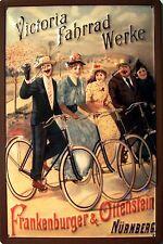 Victoria Fahrrad Werke Tour Blechschild Schild 3D geprägt Tin Sign 20 x 30 cm