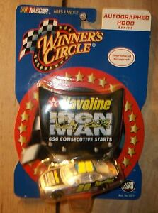 RICKY RUDD IRON MAN TEXACO HAVOLINE #28  NASCAR CAR AND RACE HOOD WINNERS CIRCLE