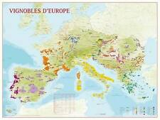 Carte des Vignobles d'Europe - POSTER