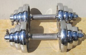 Pair (Set) of IVANKO CHROME DUMBBELLS 2 x 22 lbs FREE SHIPPING