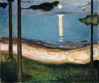 Moon Light Edvard Munch Fine Art Decoration CANVAS Print Wall Painting SM 8x10