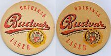 Bierdeckel Original Budvar, Tschechoslovakei-1, beidseitig identisch