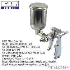 FITTOOLS Lightweigh Mini Spray Gun with Stainless steel 0.5mm nozzle and needle-