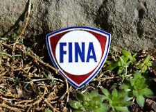 VERY NICE VINTAGE ENAMEL AUTOMOBILE CAR CLUB BADGE # FINA GAS STATION BELGIQUE