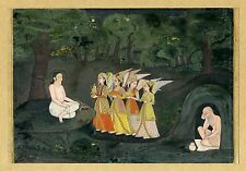 Great! Majnun Oudh India Angels c1760 gouache 166x218mm Rare Sothebys Lucknow