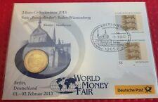2 € Gedenkbrief Numisbrief 2013 Bundesländer Baden-Württemberg World Money Fair