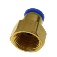 "10mm Tube OD X 1/2"" BSPT Air Pneumatic Brass Push Fitting  Female Connector"