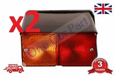 PAIR Lamps For New Holland Ford Tractor Rear Lights 3600 4110 4600 5610 6610